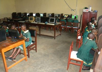 School children have access to the computers at Hope